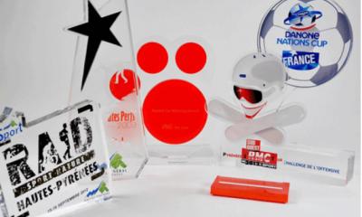 trophées en acrylique